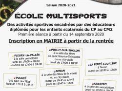 L'ÉCOLE MULTI-SPORTS !