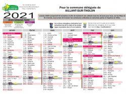 CALENDRIERS DE COLLECTE DES DÉCHETS 2021